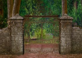 Gate Background by Lil-Mz