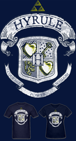 LOZ Hyrule Courage Power Wisdom Crest T Shirt by Enlightenup23