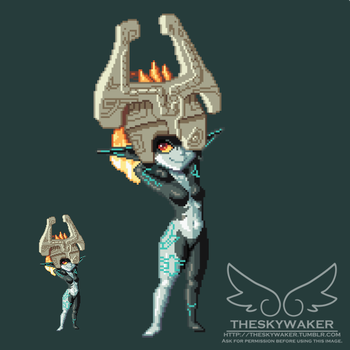 Pixel Midna (1 1 2017) by theskywaker