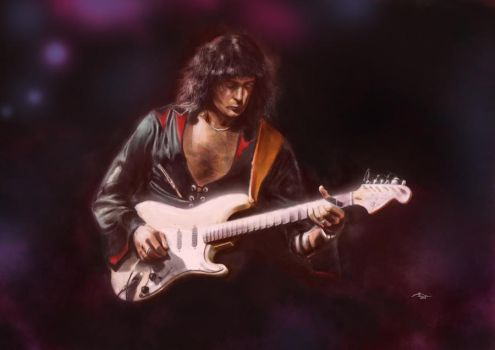 Ritchie Blackmore by andrijart