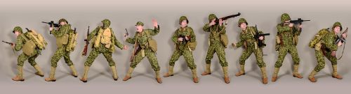 Military - uniform US soldiers WW2 USMC camo by MazUsKarL