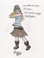 She Spins colored by TellerofTales