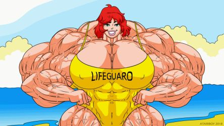 Lifeguard Cheryl - Animated by Archie-Fan