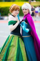 Frozen sisters! by Childishx