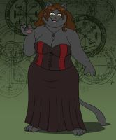 Isis the Sorceress Cat by PudgeyRedFox