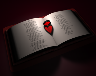 Heart in a book by Reapsert