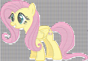 FluttershyTextArtColored by drewq123