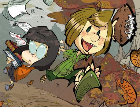 Peppermint Patty and Marcie by BrendanCorris