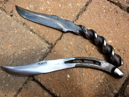 Knives forged by Logan Pearce by SethKat