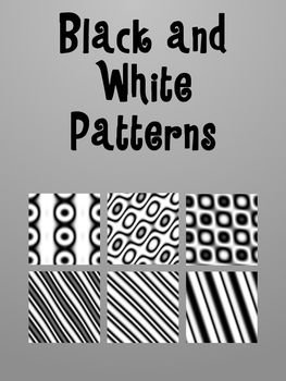 Black and white GIMP Patterns by AngelsFallFar