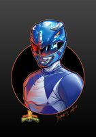 Mighty Morphin Power Rangers. BLUE RANGER (David Y by le0arts