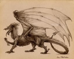 After Y Ddraig Goch by KatePfeilschiefter