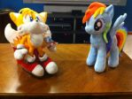 Tails Vs. Rainbow Dash - Let's Fly! by SullMaster