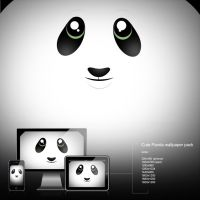 cute panda wallpaper by calincio