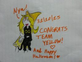 (Inktober Day 21 *final*) Congrats Team Yellow!!! by Revenir-Ghoul