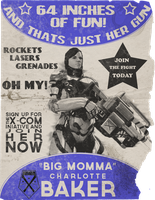XCOM Recruitment Poster 'Big Momma' by CoryMcD