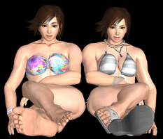 Asuka T7 Sexy 4 Pack - Update! All Toes Rigged! by Otegine