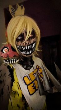 Nightmare Chica cosplay by HazyCosplayer