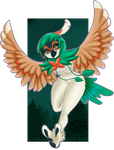 Decidueye Fan Art by Kibanz
