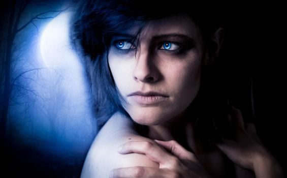 Bright Blue Eyes - Project Werewolf by TheLupin