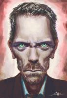 Hugh Laurie Caricature by ShoZ-Art
