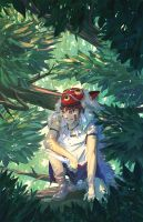 princess mononoke san by spiridt