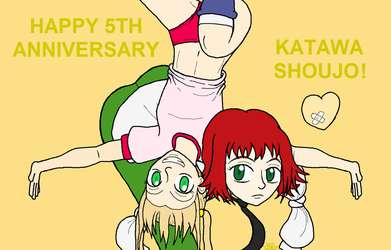 Katawa Shoujo 5th Anniversary by Twardz