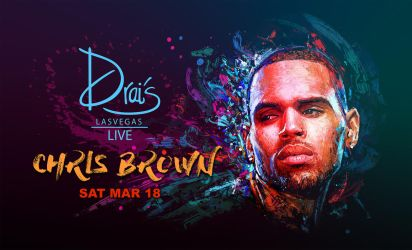 CHRIS BROWN - DRAI'S LIVE ADVERTISING ART by kyle-lambert