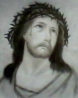 2012 drawing - Jesus by nielopena