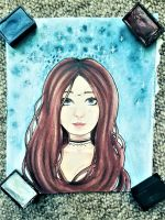 Watercolor Girl by MadCalanchoe