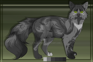 Shadowfern - concept reference sheet by Blue-Krew