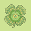 Celtic Four Leaf Clover