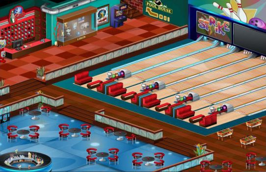 Bowling Saloon Environment Design and Animation by yosun