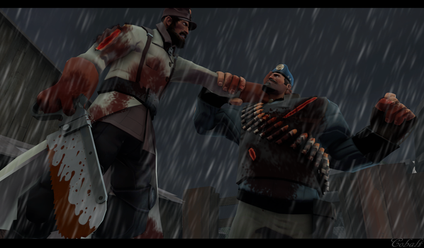 (SFM) Fighting by CobaltDrawing