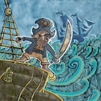 Lawrence the pirate by Rallase
