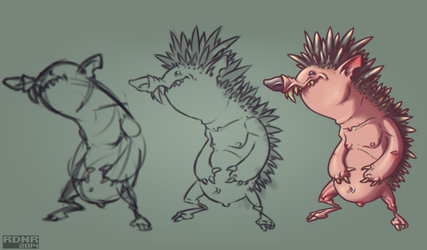 hedgehog by Rodendron