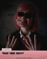 DDLC Natsuki cosplay : Play with me by lala-chan11