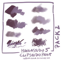 MangaStudio 5 - clip studio paint - brushes pack2 by martinacecilia