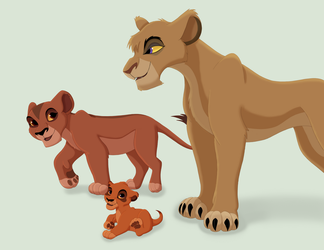 Vitani's family by Paint-Puff