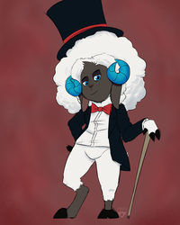 Dapper Sheepy by iSpazzyKitty