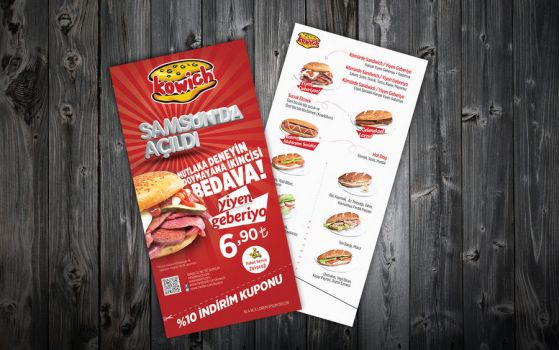 kowich flyer menu by ziyade