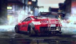 Speedhunters Toyota Supra - Need for speed tribute by yasiddesign
