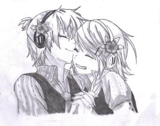 rinn and len, cute moments by BlueTezzy