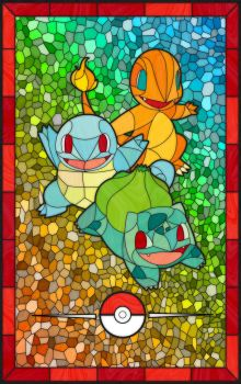 Stained Starters by TheCuraga
