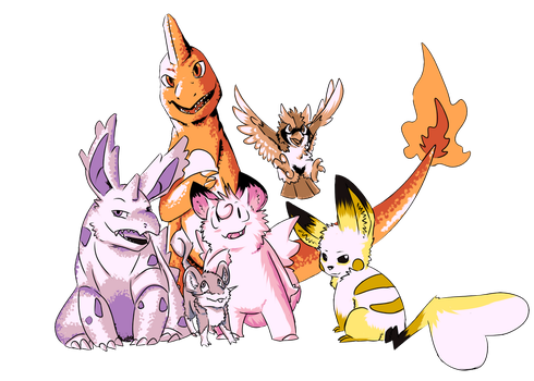 Team So Far: Pokemon Red Nuzlocke by WulfWhistle