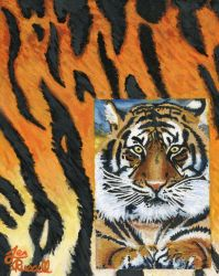 Acrylic Tiger Painting by CanadianEhh