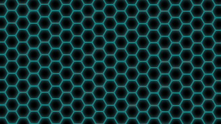 Hex Grid Blue by Metatality