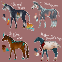 Halloween Horses - Auctions - CLOSED by gyngercookie