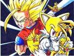 ssj2 gohan and super tails CL by trunks24