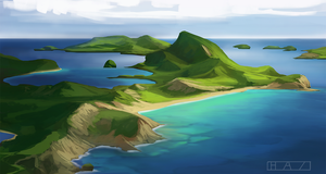 Guadeloupe Sketch by HazPainting